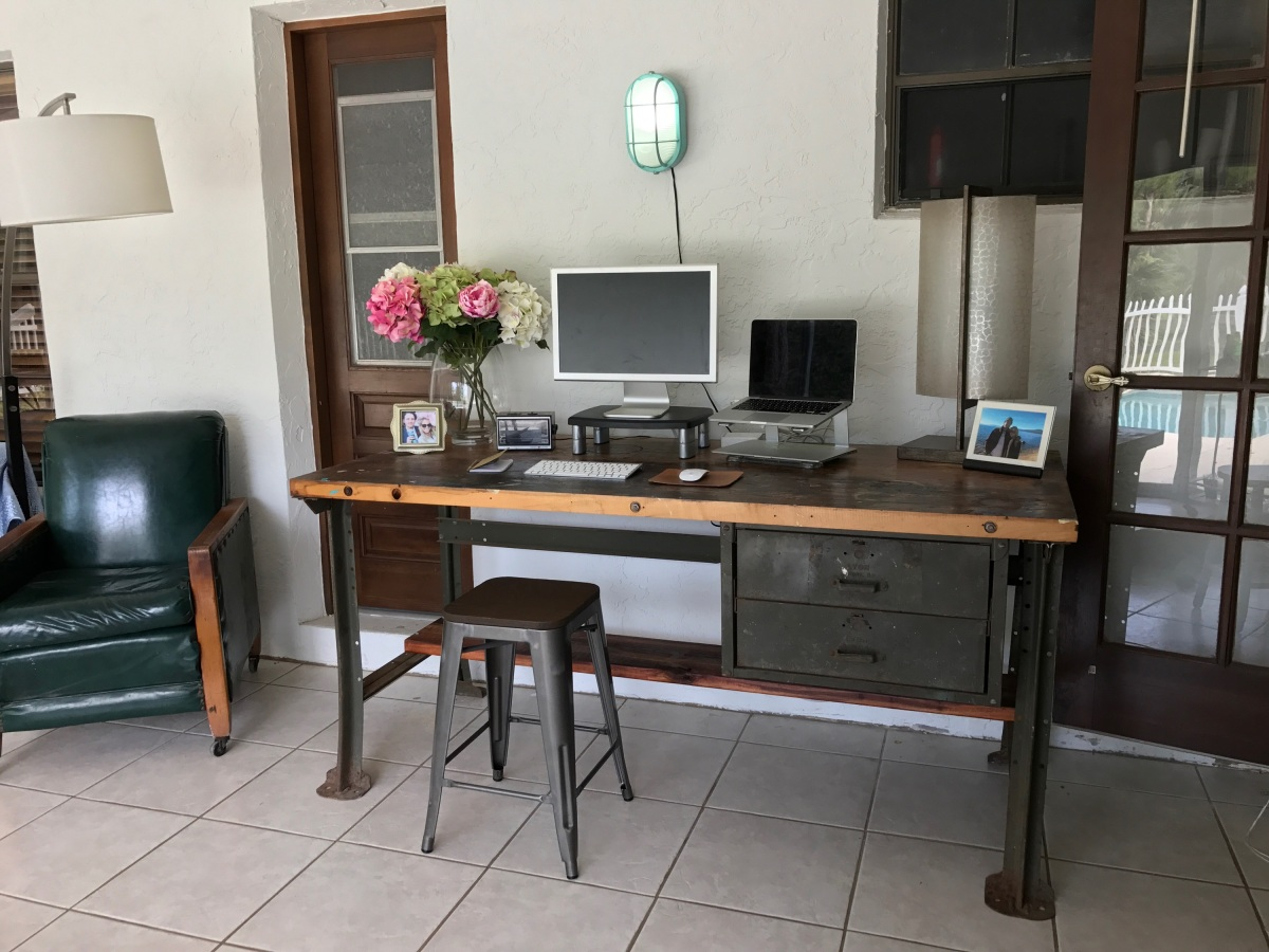 Everything Has Potential Industrial Desk From Old Workbench
