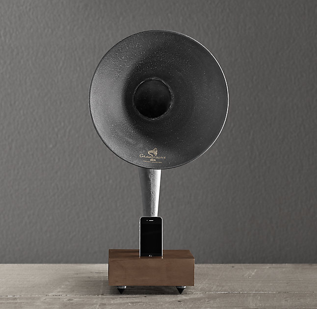 Restoration Hardware Gramophone: A Gramophone Or Funnel? Outdoor Entertainment DIY